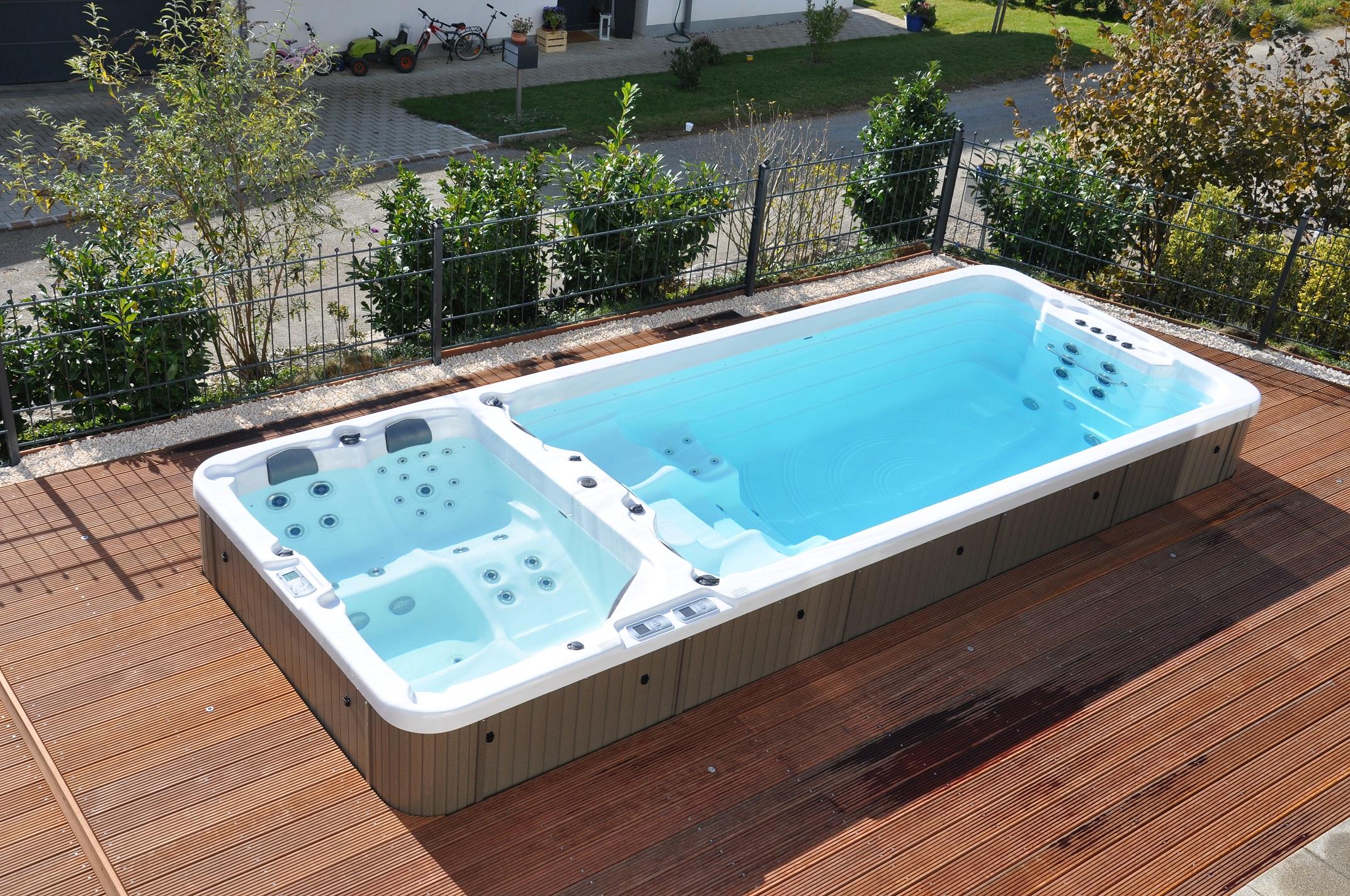 Jacuzzi ogrodowe wanny spa ciesz si prywatn sesj for Zwembad zelf inbouwen